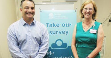 Consumer representative Erron Palmer, and program manager, patient centred care Kay De Ridder, who were part of Pateint feedback - online, real time, anytime, a finalist in this years WSLHD Quality Awards.